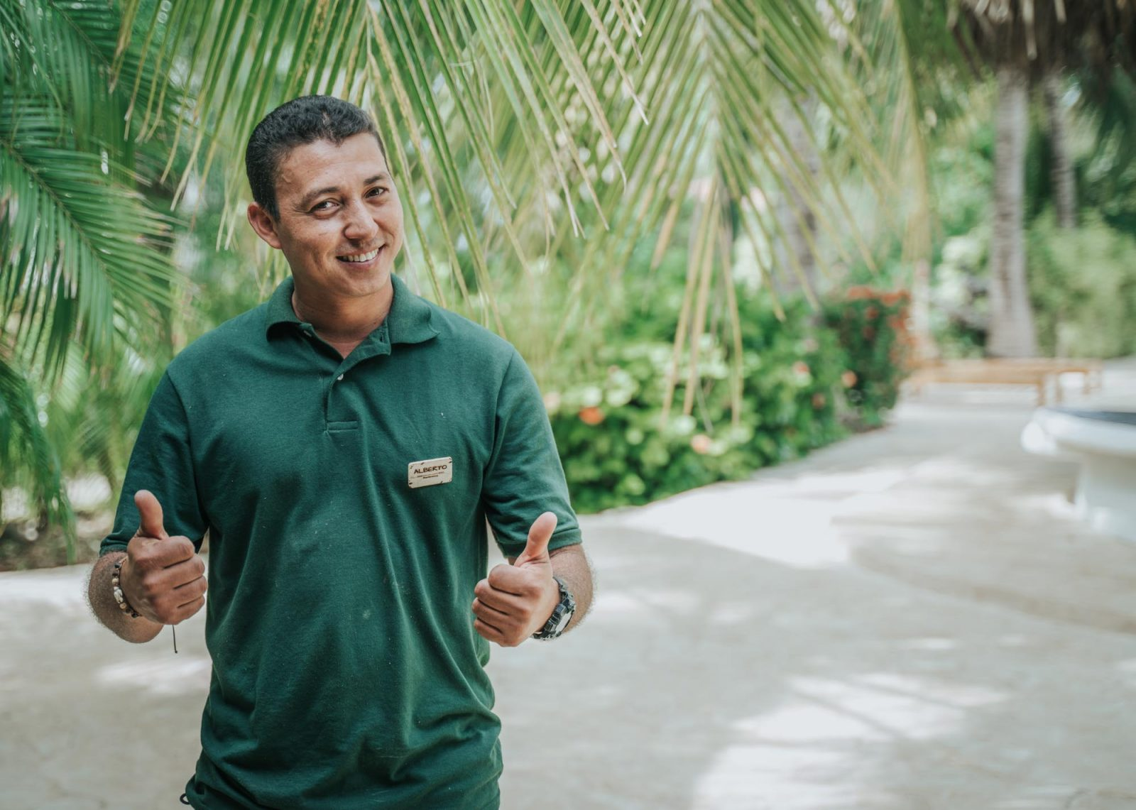 Alberto is the head of maintenance at Drift Away Eco-Lodge.