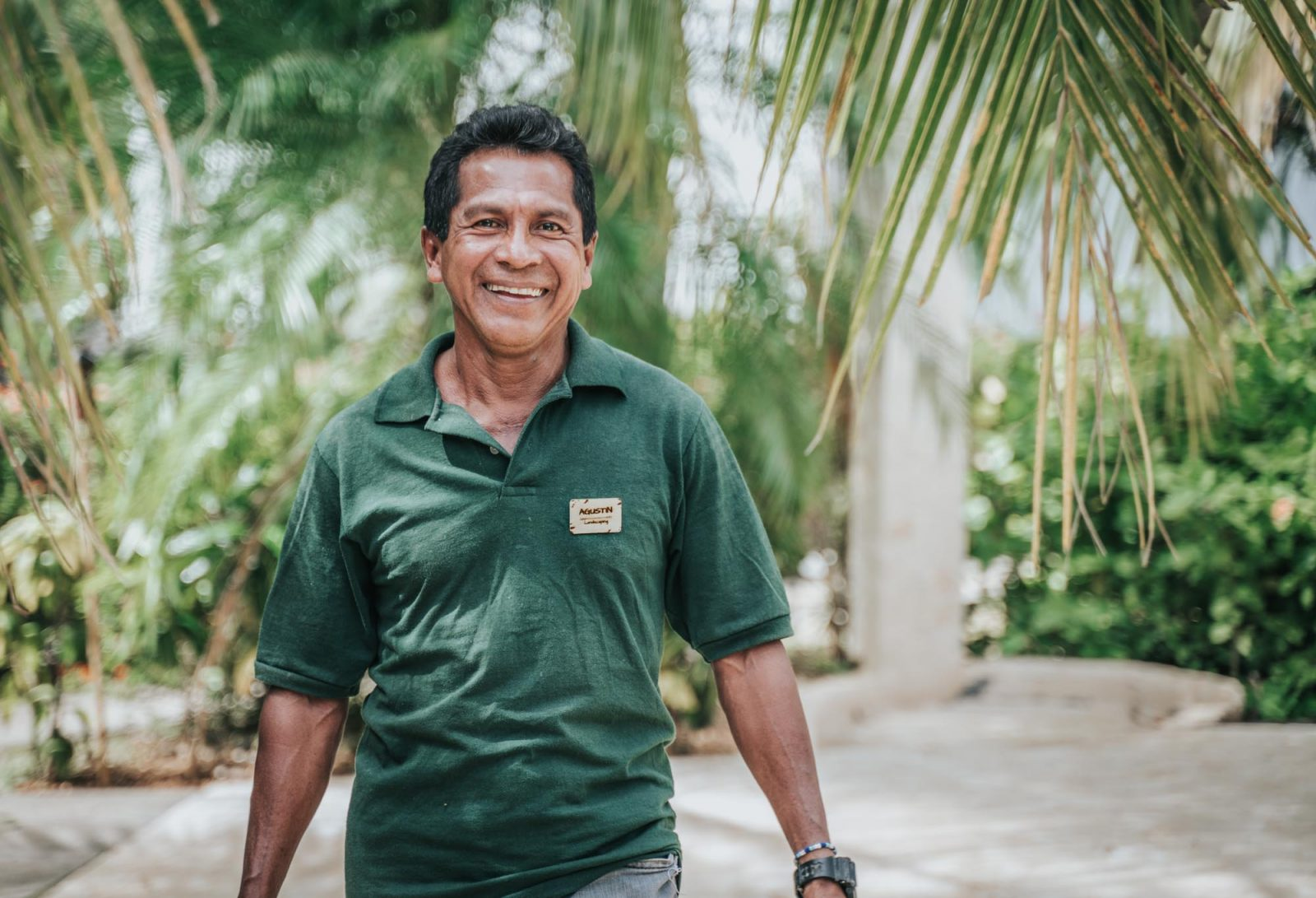 Augustine is the gardener at Drift Away Eco-Lodge.