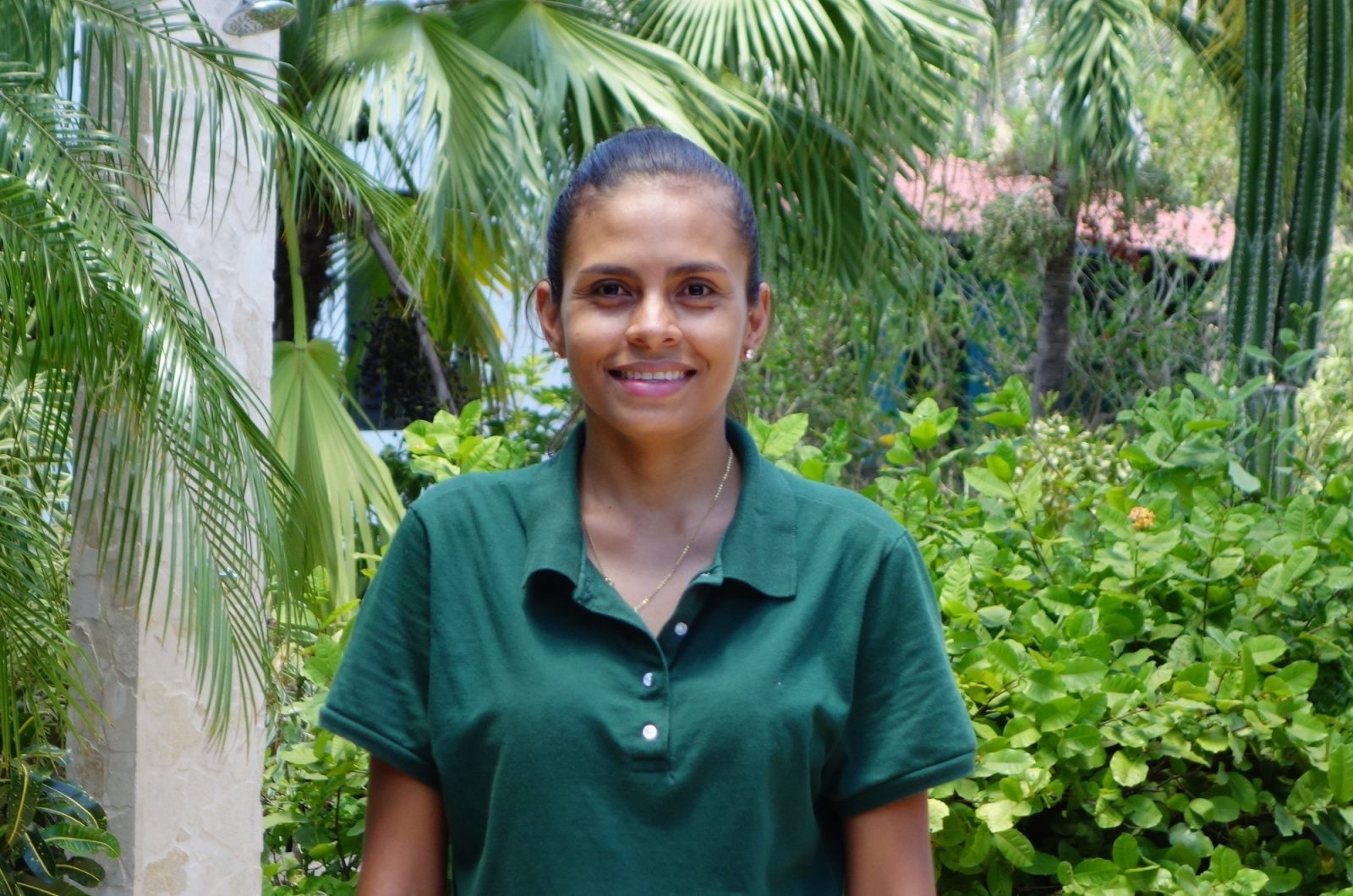 Janel is the receptionist at Drift Away Eco-Lodge.